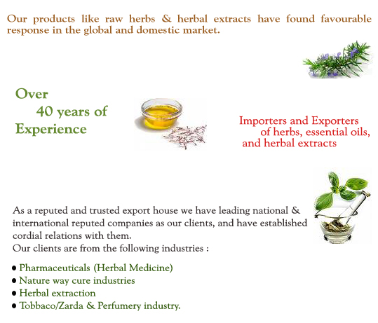 Herbs and herbal extracts